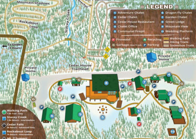 Cedar House Chalets Property Map